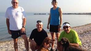Some Bayville residents, their pooches and an Olympian
