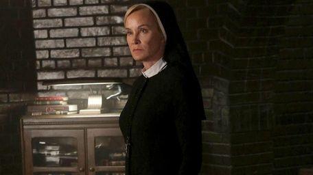 Jessica Lange portrays Sister Jude in a scene