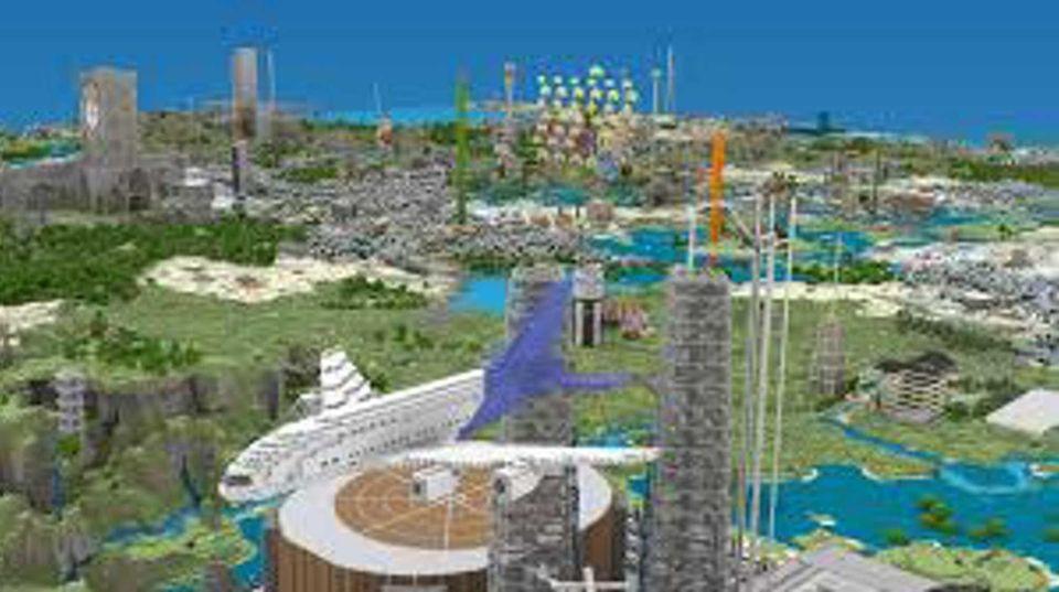 A screen shot of a Minecraft world.