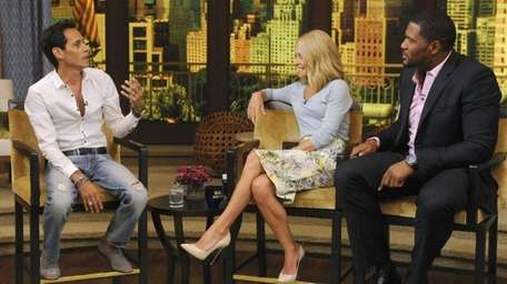 Marc Anthony talks to Kelly Ripa and Michael