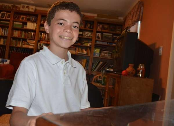 Nicholas Cameron, 12, of Sayville, was selected on