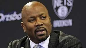 Brooklyn Nets general manager Billy King speaks during