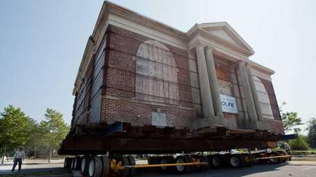 The 105-year-old Carnegie Library in Patchogue was moved