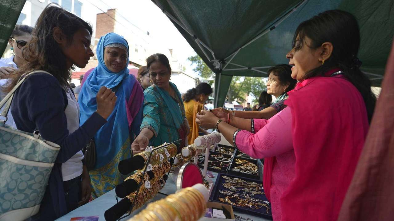 An Indian street fair in Jackson Heights includes