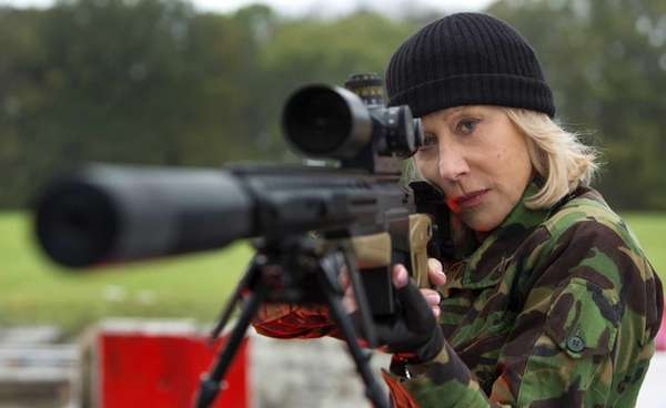 "Helen Mirren in a scene from ""RED 2."""