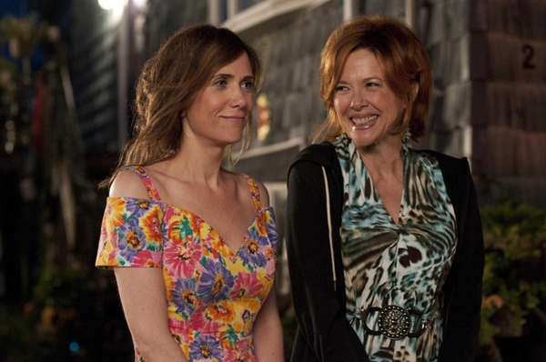 Kristen Wiig, left, and Annette Bening star in