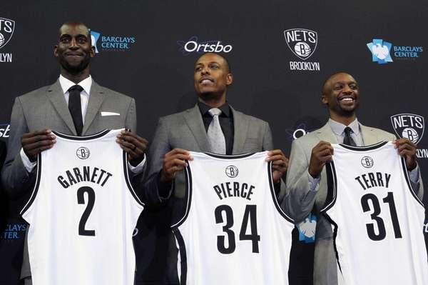 New Nets players Kevin Garnett, Paul Pierce and