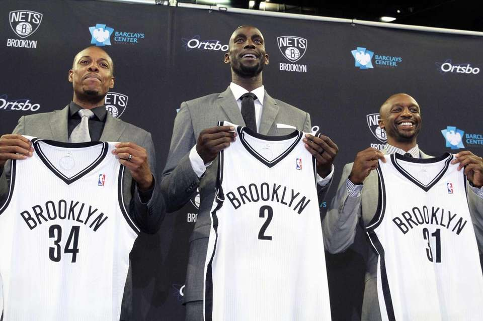 New Nets players Paul Pierce, Kevin Garnett and