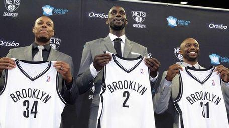New Nets players Paul Pierce, Kevin Garnett and