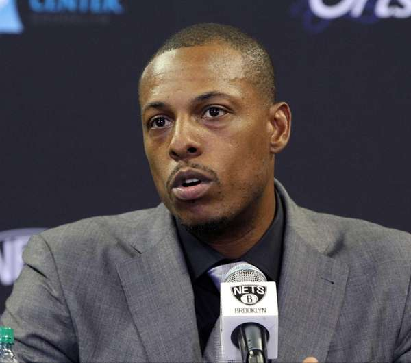 New Nets player Paul Pierce at a press