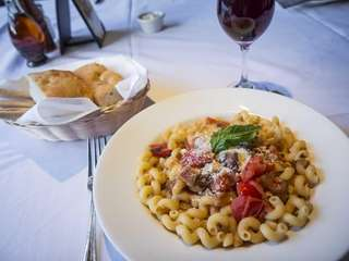 Dilettos in Westbury serves cavatappi affumicati, a hollow