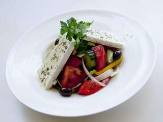 A very pure and traditional Greek salad is