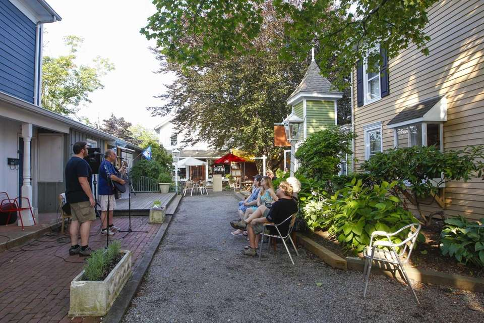 Main, located in Greenport, has outdoor seating where