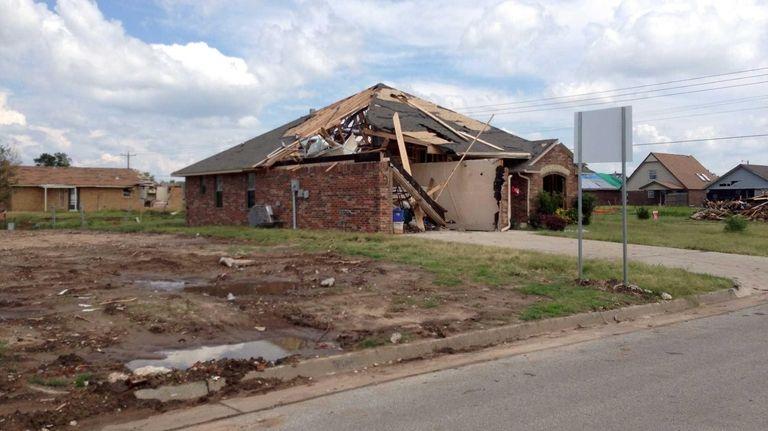 Devastation around the Briarwood Elementary School after the