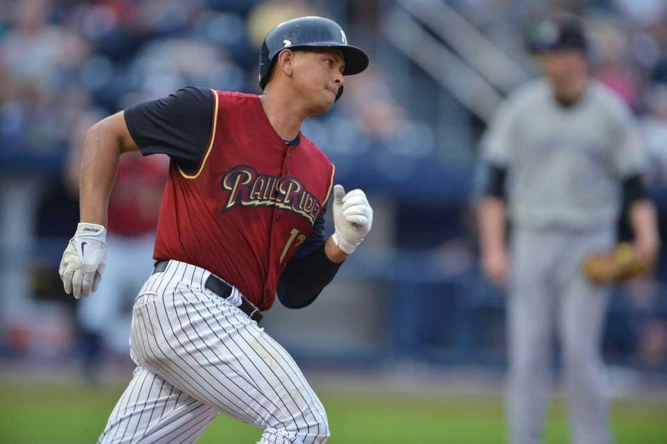 Alex Rodriguez, playing for the Scranton/Wilkes-Barre RailRiders on
