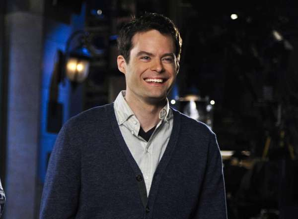 Bill Hader on the set of quot;Saturday Night