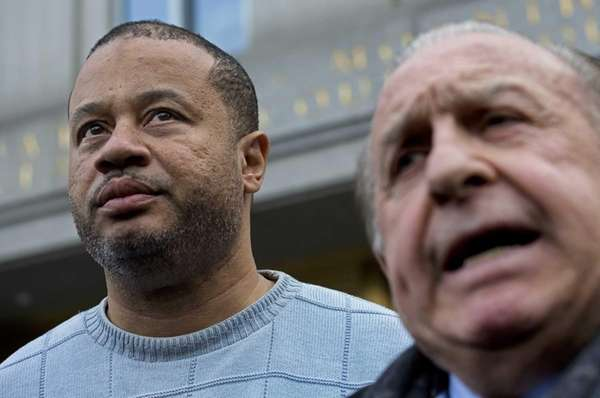 Bronx Assemb. Eric Stevenson, left, with attorney Murray