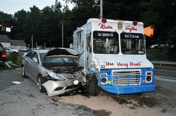 A Mister Softee ice cream truck collided with