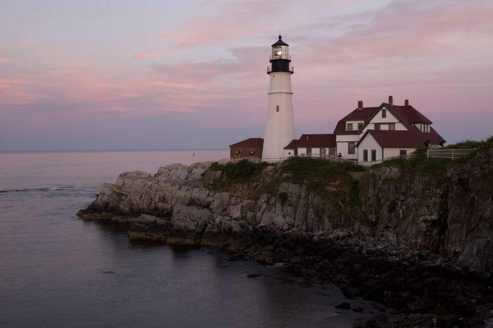The Portland Head Light lighthouse in Cape Elizabeth,