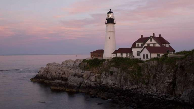 The Portland Head Light lighthouse in Cape Elizabeth,