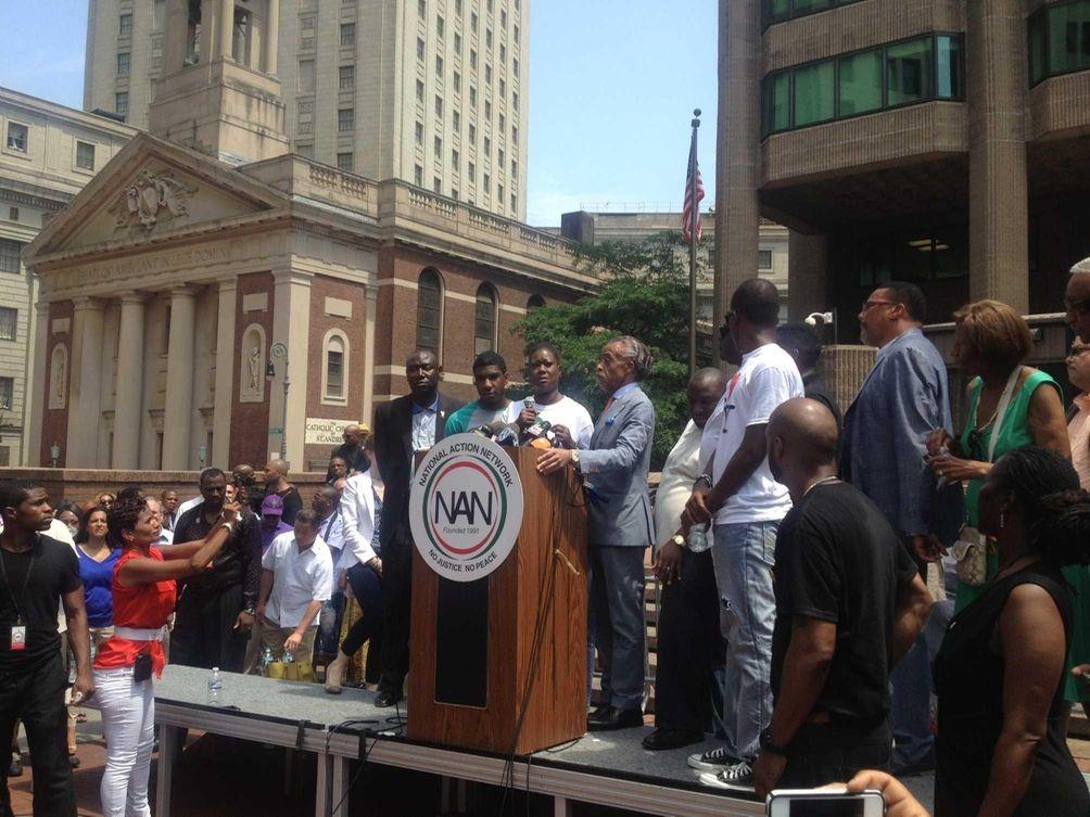 Trayvon Martin's mother, Sybrina Fulton, and brother, Jahvaris