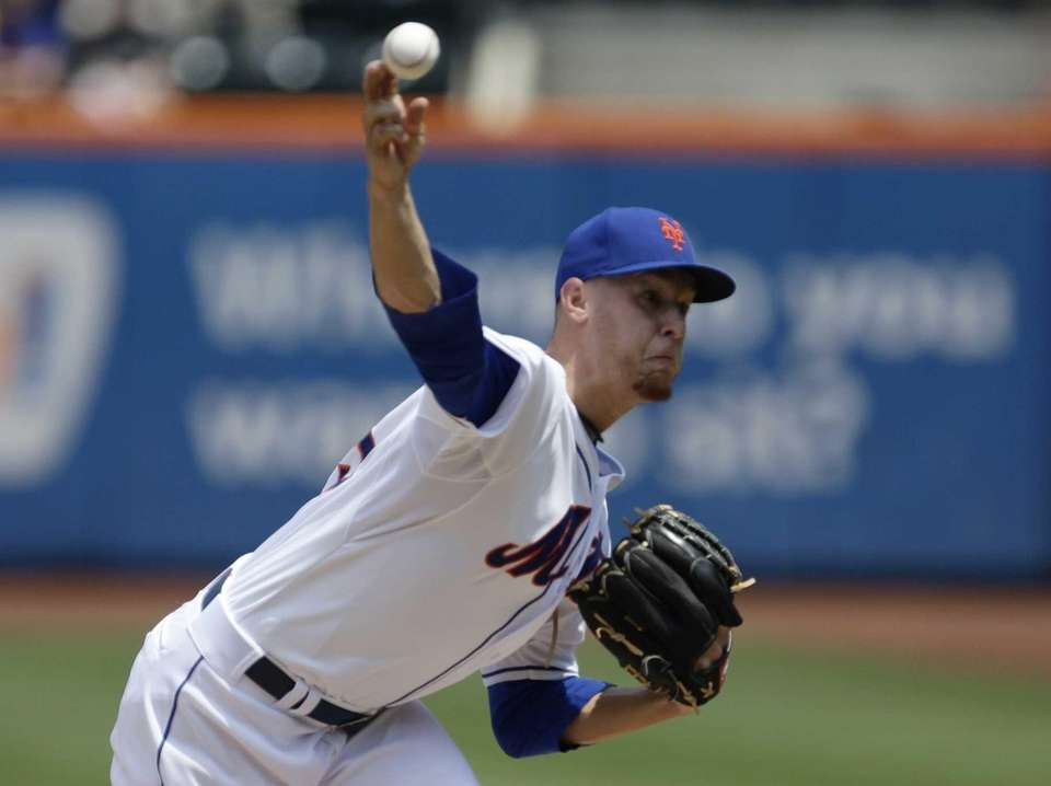 Mets starter Zack Wheeler delivers a pitch during
