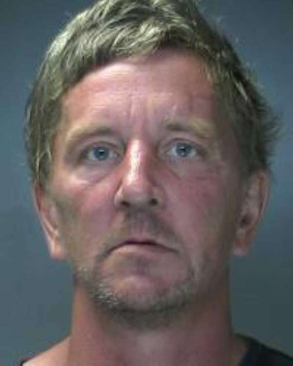 Glen Gregor, of Patchogue, is arrested after police