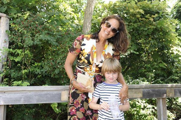 Kelly Kline and her son Lukas Alexander Rector