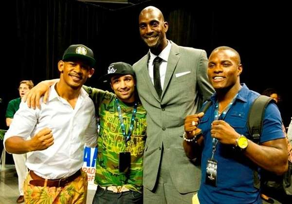 Boxers Danny Jacobs, Paulie Malignaggi and Peter Quillin