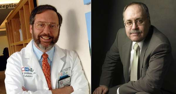 Dr. David Goodman, left, a professor of medicine