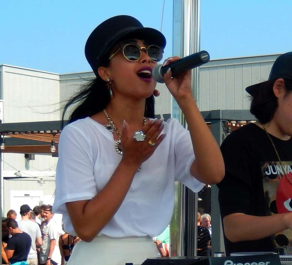 "Singer Natalia Kills performs at the ""Sound Waves"""