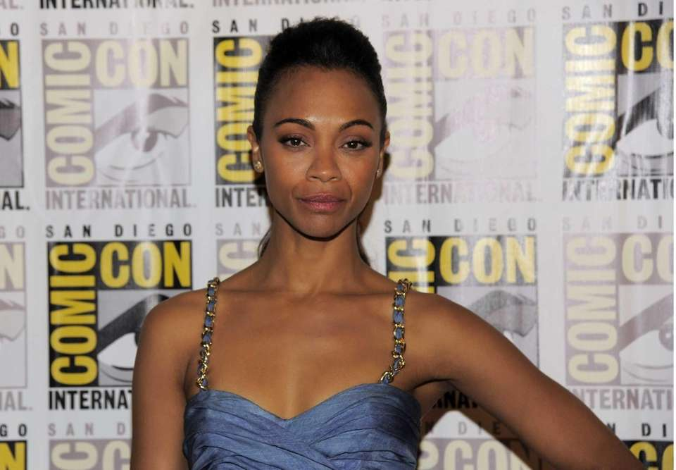 "Zoe Saldana arrives at the ""Guardians of the"