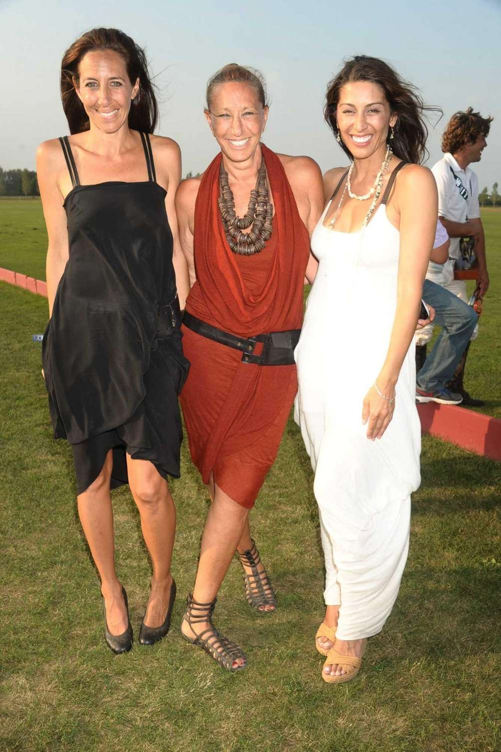 From left, Gabby Karan, Donna Karan and Shamin