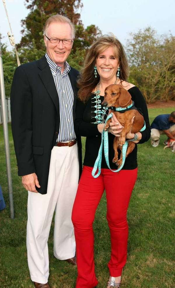 Chuck Scarborough and Jill Rappaport at the 4th