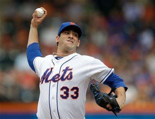 Matt Harvey winds up during the first inning