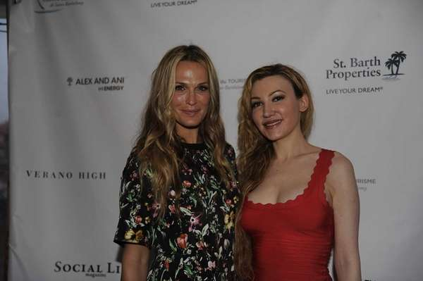 From left, Molly Sims and Devorah Rose, Social