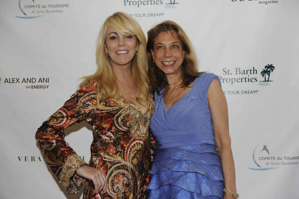 From left, Dina Lohan and Terry Sarro attend