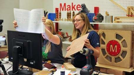Maker Camp instructors show students what they'll
