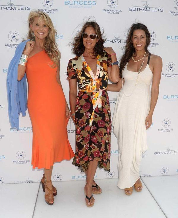 Christie Brinkley , Kelly Klein, and Shamin Abas