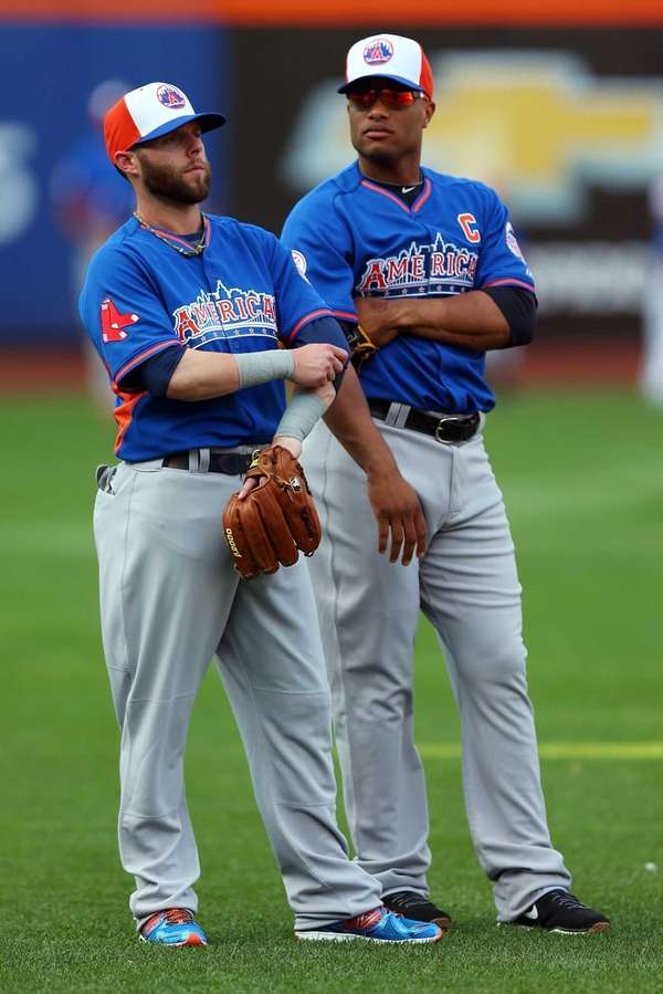 American League All-Stars Dustin Pedroia and Robinson Cano