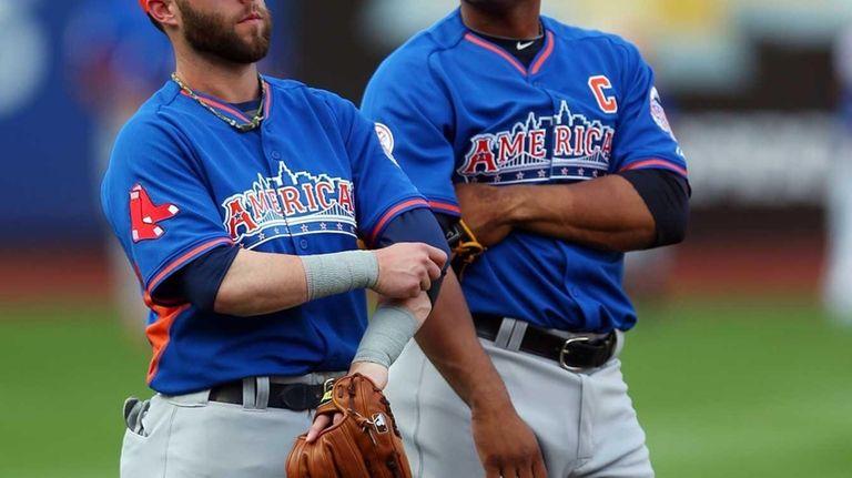 American League All-Stars Dustin Pedroia and Robinson Cano