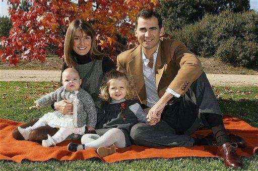 Spain's Crown Prince Felipe and his wife, Princess