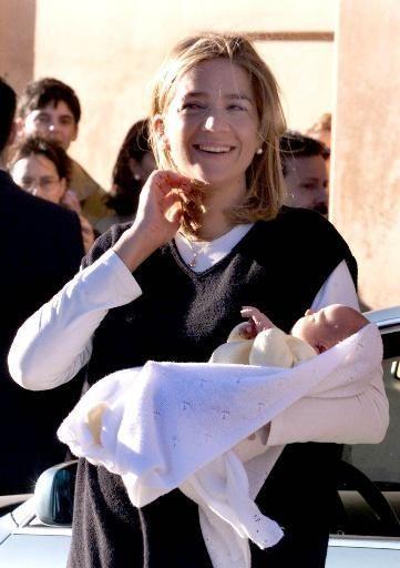 Spanish Princess Cristina leaves a hospital in Barcelona