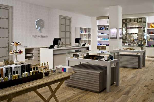 The retail section of new beauty mecca Truth