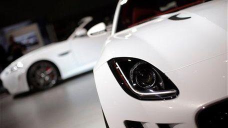 The Jaguar C-X16 concept car is seen at
