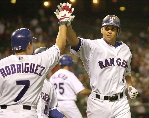 ALEX RODRIGUEZ 2002, Texas Rangers 57 home runs