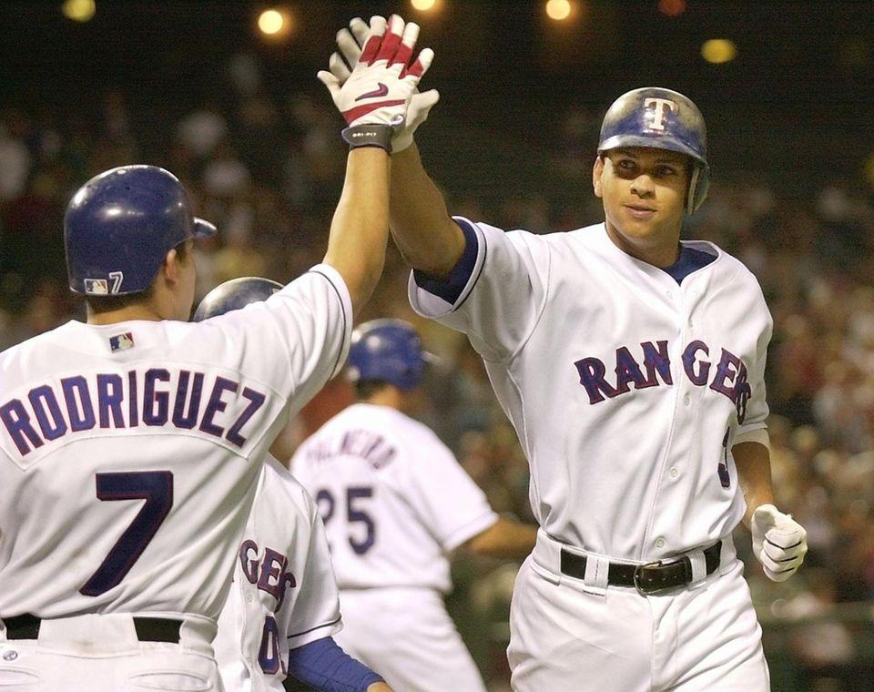 ALEX RODRIGUEZ 2002, Texas Rangers 57 home runs