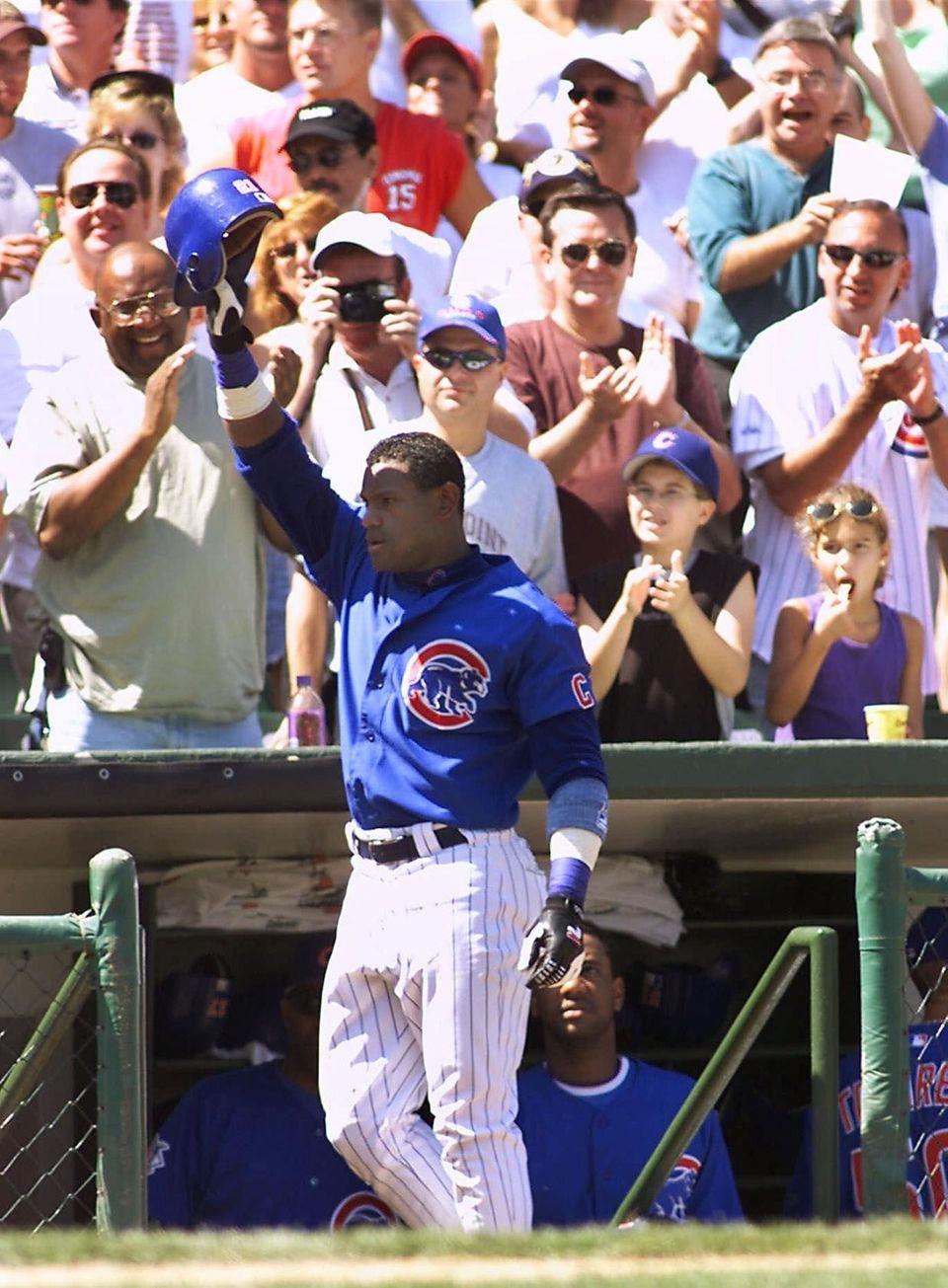 SAMMY SOSA 2001, Chicago Cubs 64 home runs