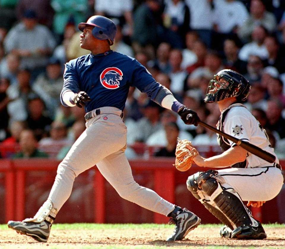 SAMMY SOSA 1998, Chicago Cubs 66 home runs