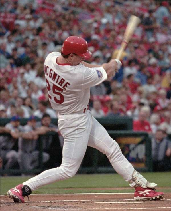 MARK MCGWIRE 1997, St. Louis Cardinals 58 home